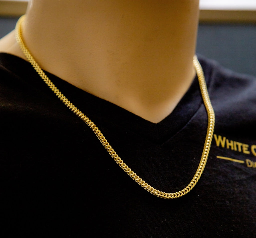 10K Gold Franco Chain (Regular) - 4mm - White Carat Diamonds