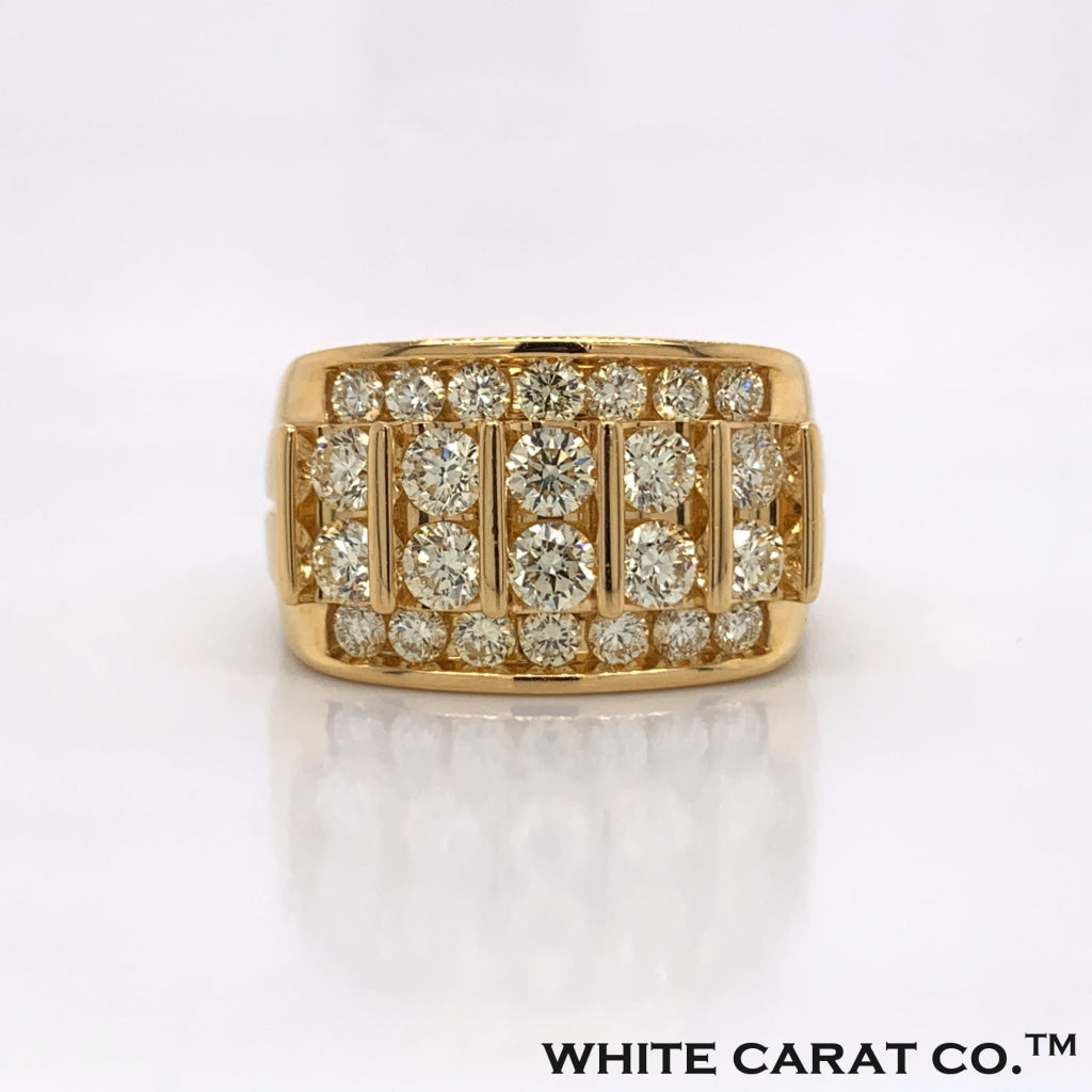 2.98 CT. Diamond 10K Yellow Gold Ring - White Carat - USA & Canada