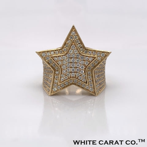 3.50 CT. Diamond 14K Yellow Gold Ring - White Carat - USA & Canada