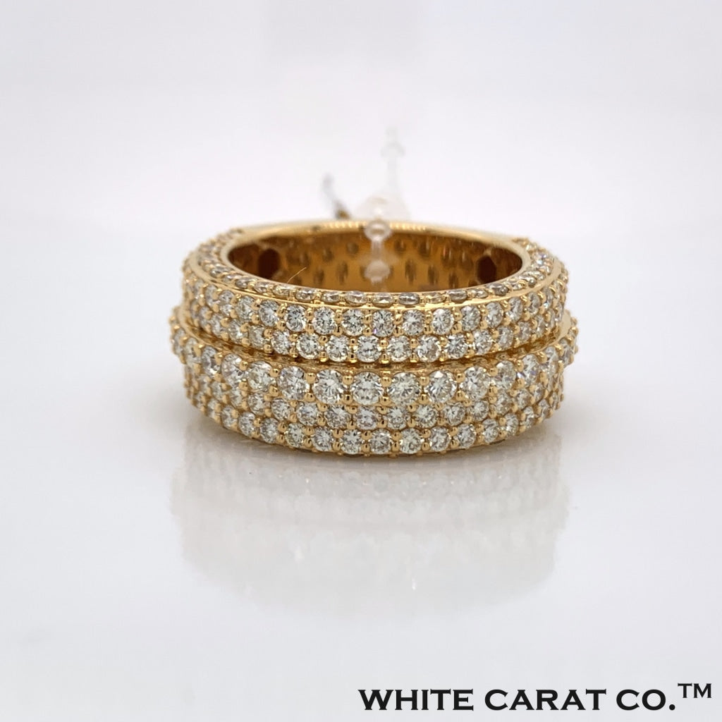 4.22 CT. Diamond 10K Yellow Gold Ring - White Carat Diamonds