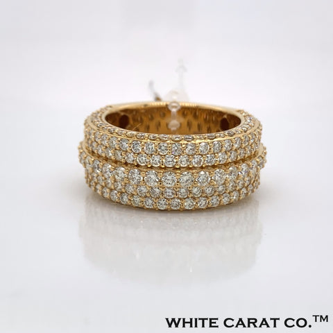 4.22 CT. Diamond 10K Yellow Gold Ring - White Carat - USA & Canada