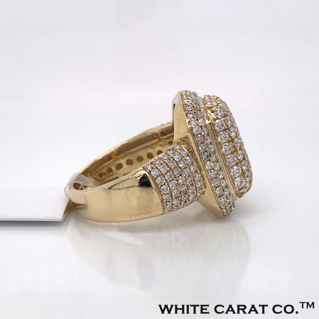 3.19 CT. Diamond 10K Yellow Gold Ring - White Carat Diamonds