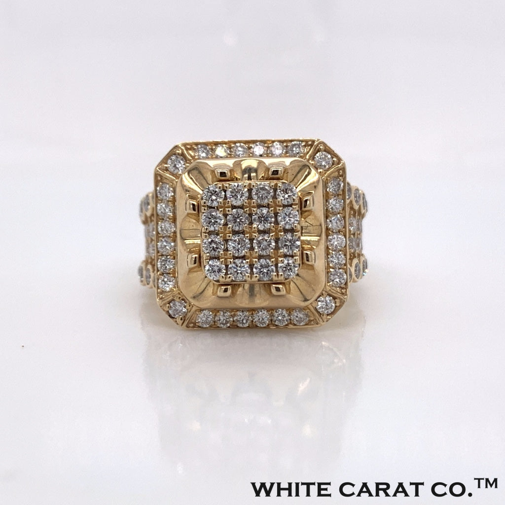 2.40 CT. Diamond 10K Yellow Gold Ring
