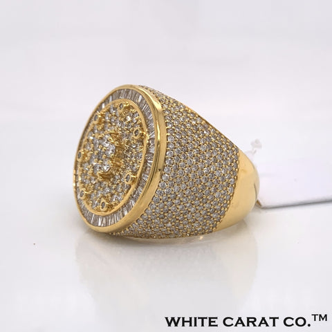 3.97 CT. Diamond 10K Yellow Gold Ring - White Carat - USA & Canada