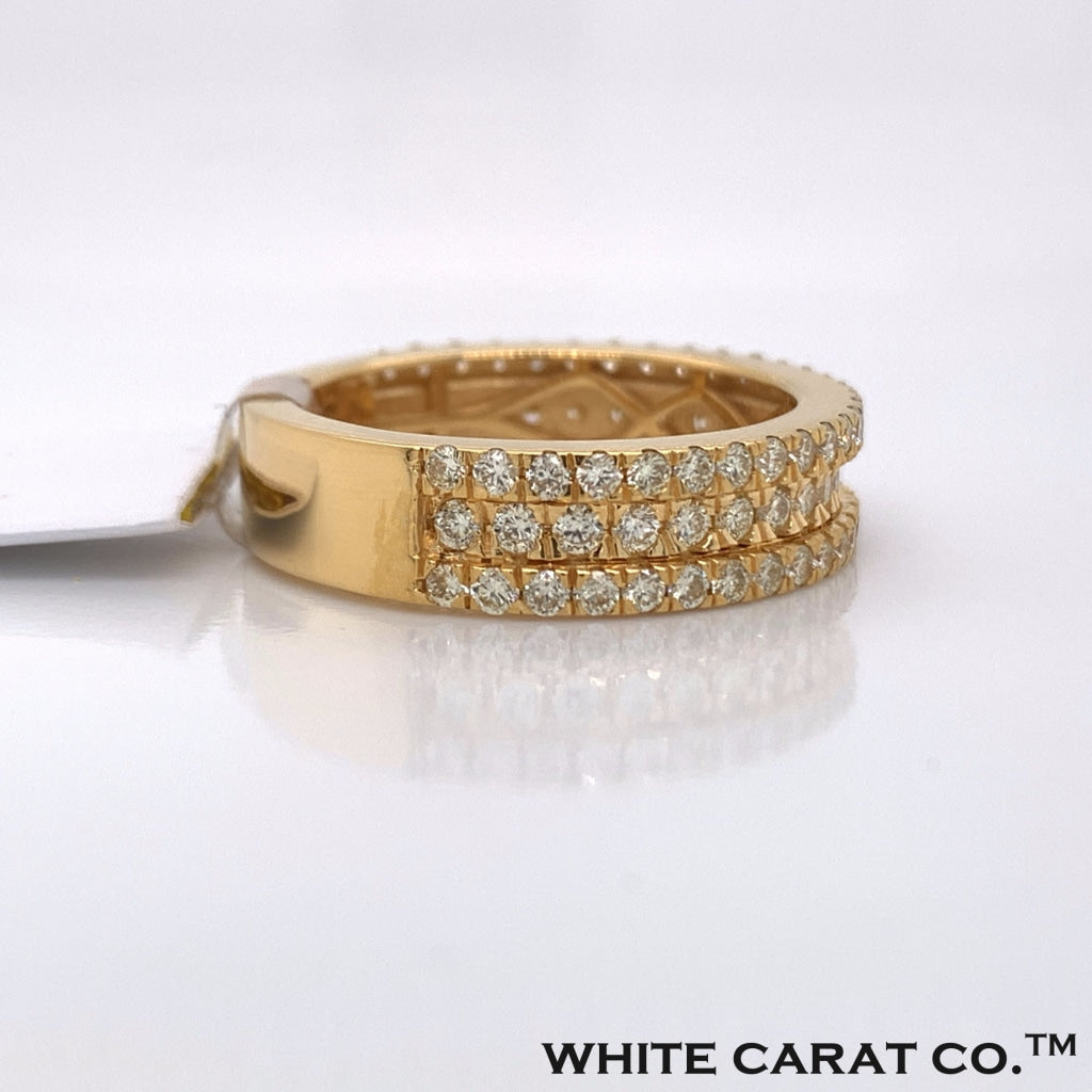 1.72 CT. Diamond 10K Yellow Gold Ring - White Carat Diamonds