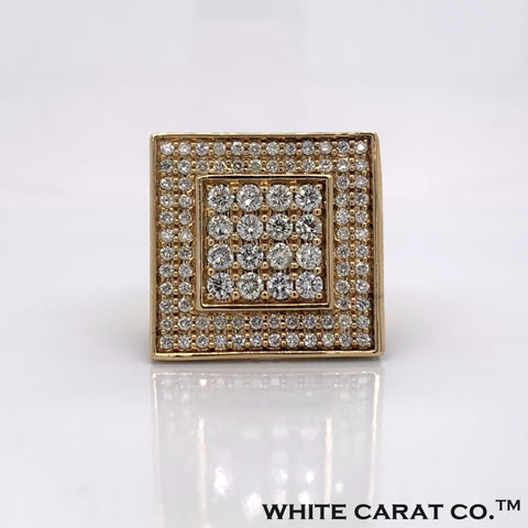 5.00CT Diamond 10K Yellow Gold Ring - White Carat Diamonds