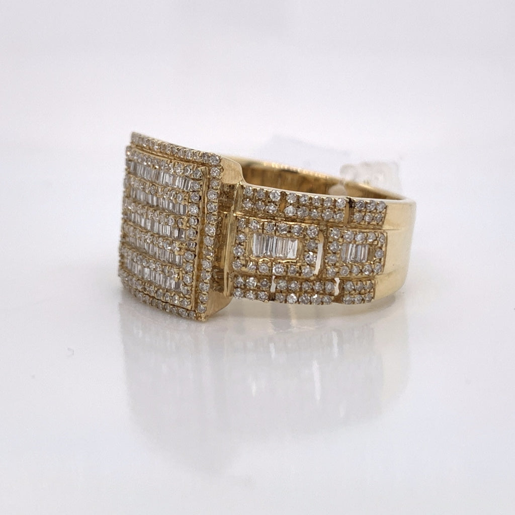 1.19CT Diamond 10K Yellow Gold Ring
