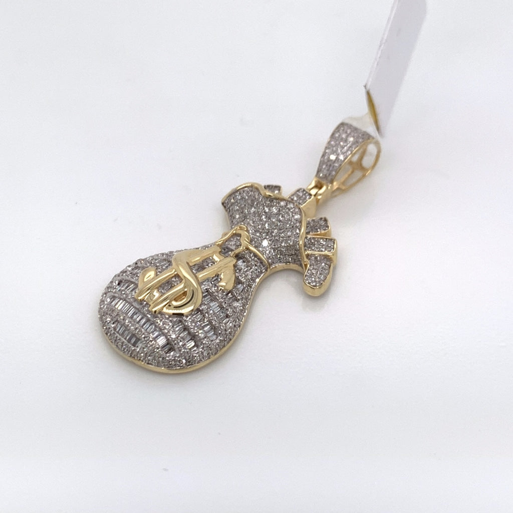 1.05CT Diamond 10K Yellow Gold Pendant - White Carat Diamonds