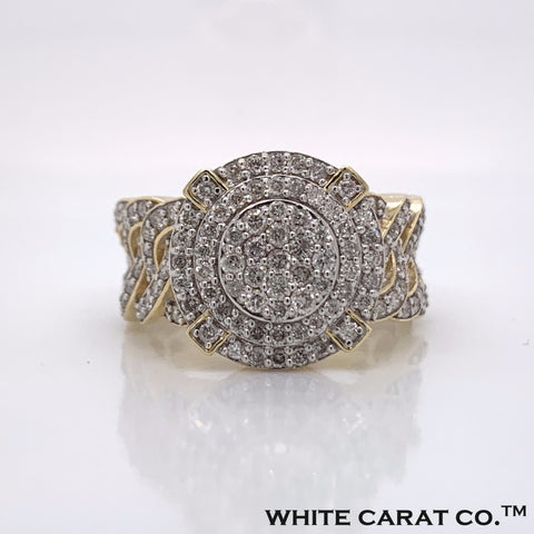 1.63CT Diamond 10K Yellow Gold Ring - White Carat - USA & Canada