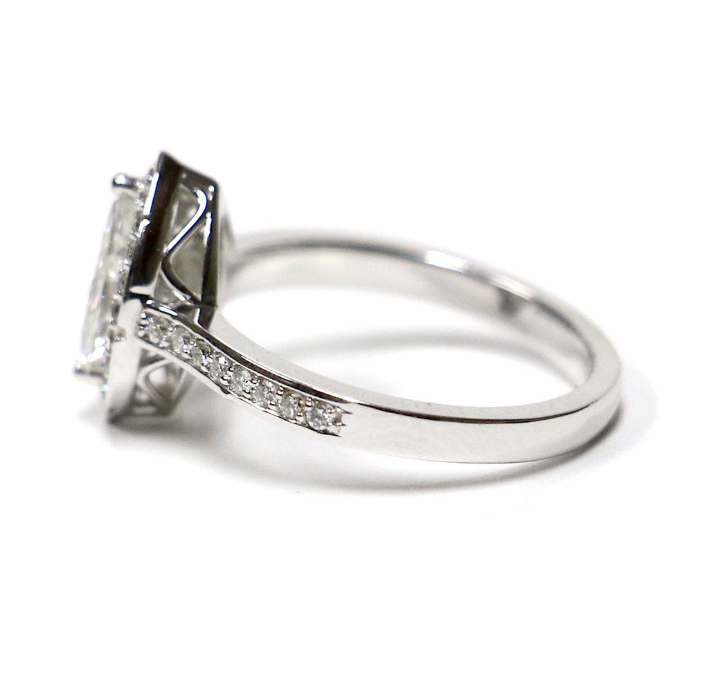 1.20 CT. Marquise Cut Diamond Engagement Ring in 14K White Gold - White Carat Diamonds