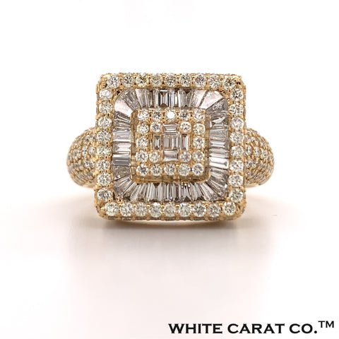 4.00 CT. Diamond Baguette Ring in Gold - White Carat - USA & Canada
