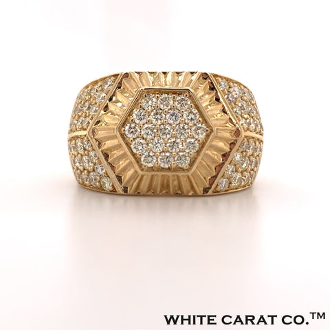 2.00 CT. Diamond Hexagonal Ring in Gold - White Carat - USA & Canada