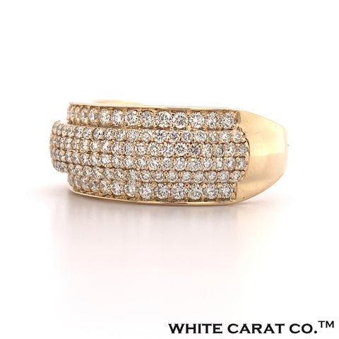 3.00 CT. Diamond Two Tier Band in Gold - White Carat - USA & Canada
