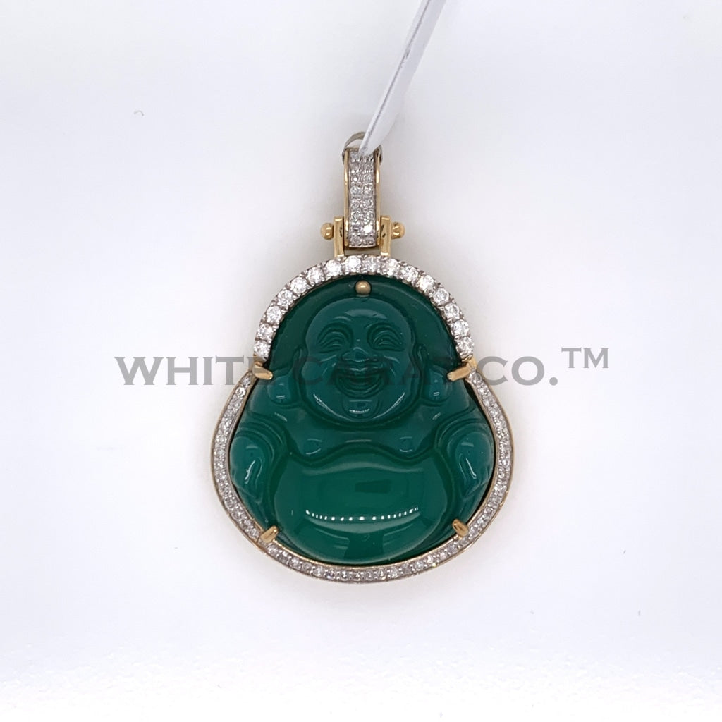 0.65CT Diamond Buddha Pendant in 10K Gold - White Carat Diamonds