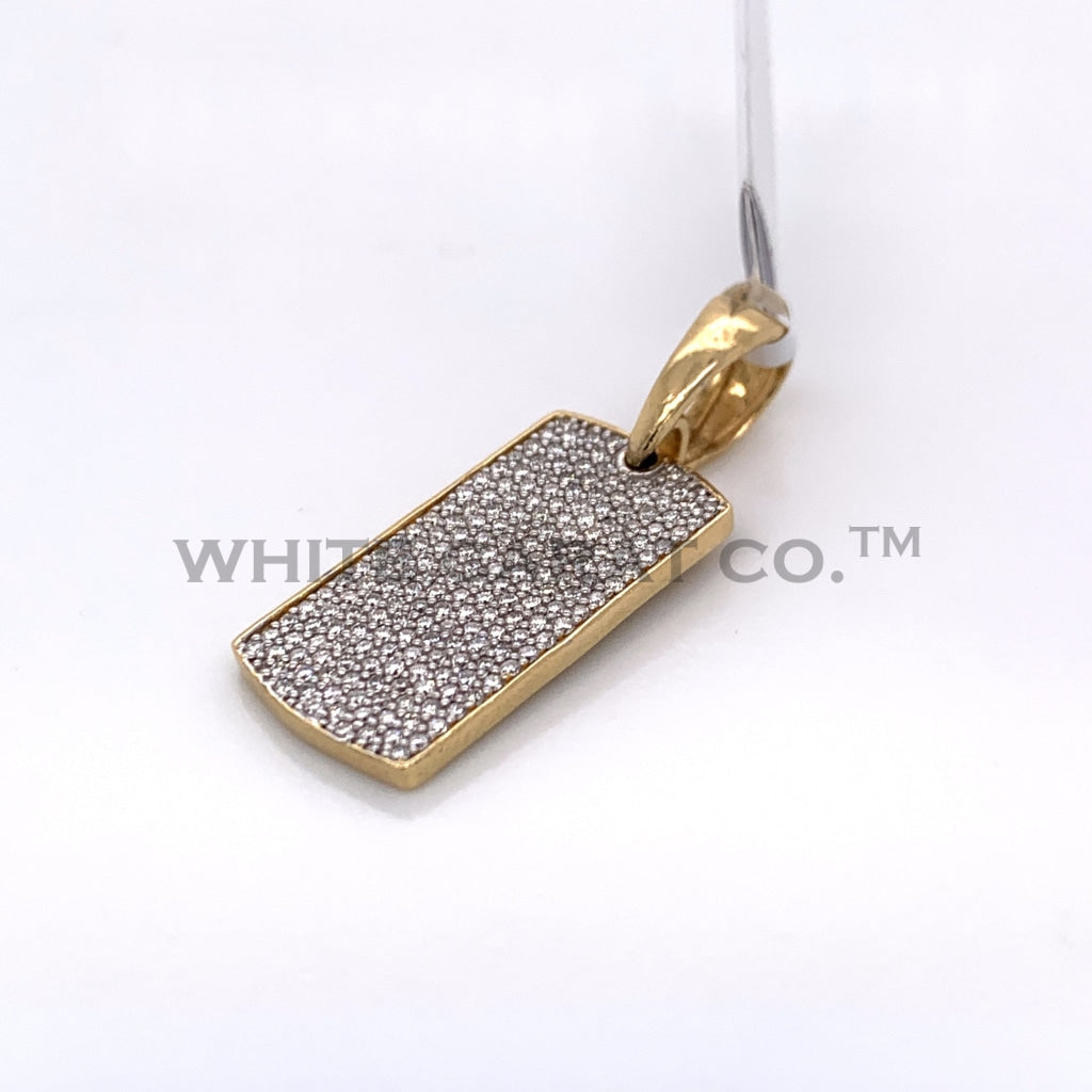 0.50CT Dog Tag Diamond Pendant in 10K Gold - White Carat Diamonds