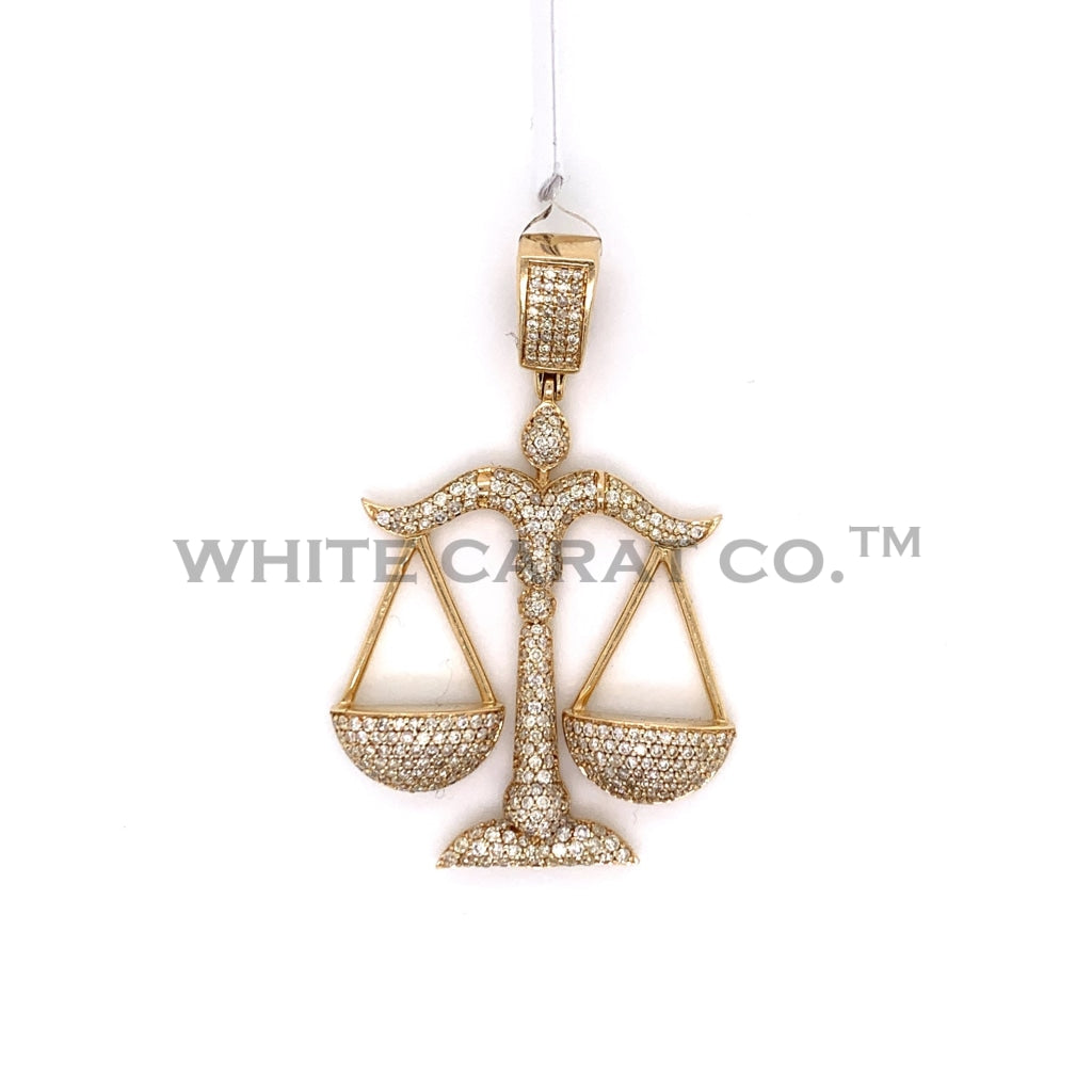 2.25 CT. Diamond Scale Pendant in 14K Gold - White Carat Diamonds