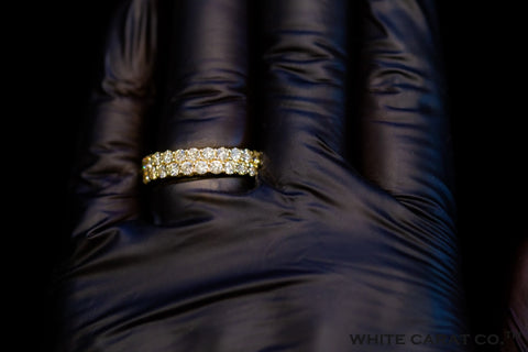 6.00 CT. Diamond Eternity Ring 10KT Gold - White Carat Diamonds