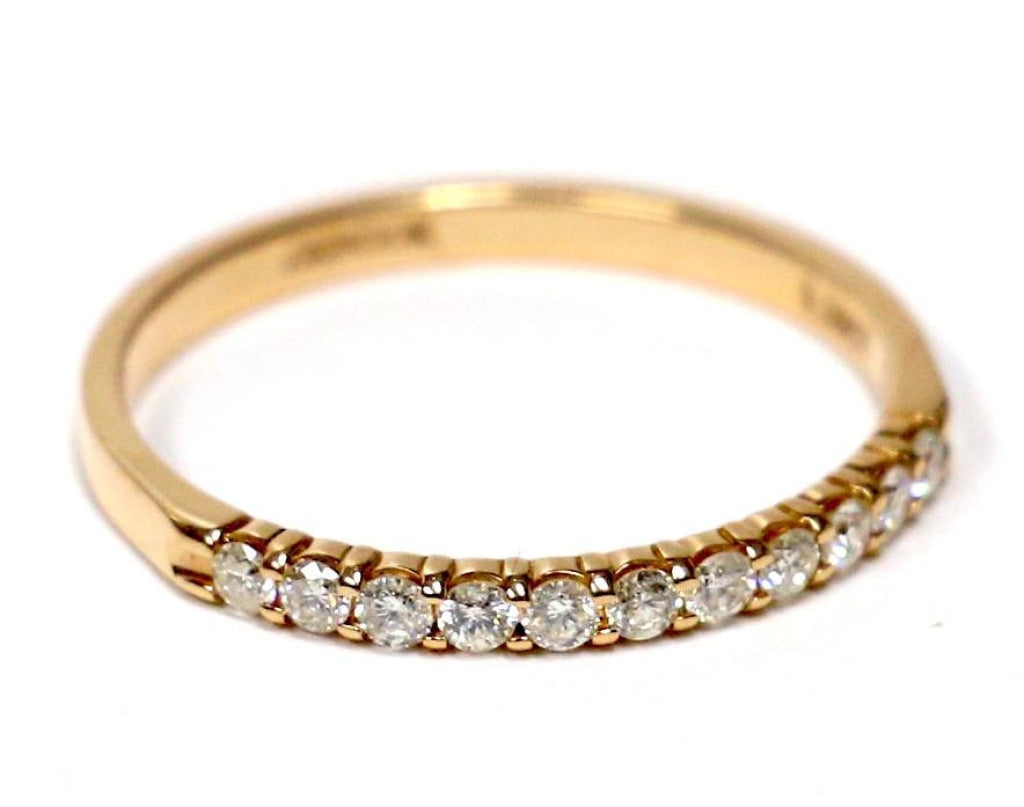 0.25 CT. Eleven Stone Round Cut Diamond Wedding Band in 14K Rose Gold - White Carat Diamonds