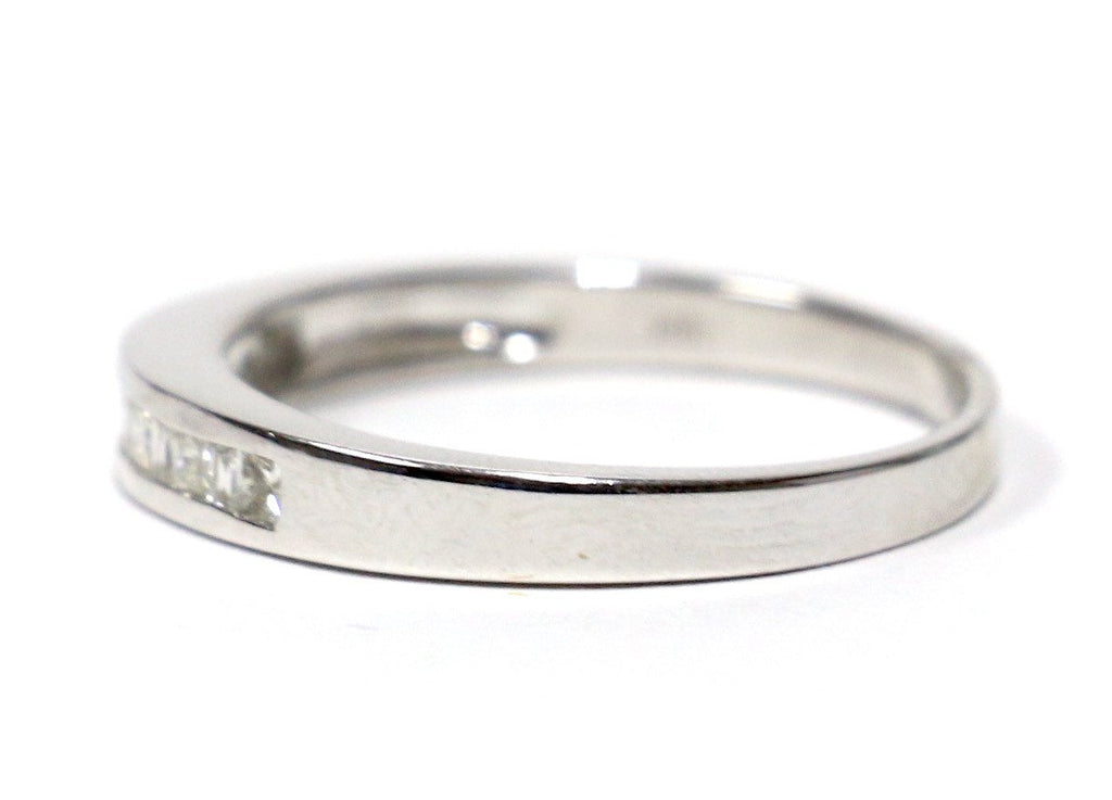0.50 CT. Diamond Wedding Band in 14K White Gold - White Carat Diamonds