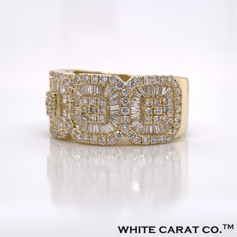 2.00CT Diamond 10K Yellow Gold Ring - White Carat Diamonds