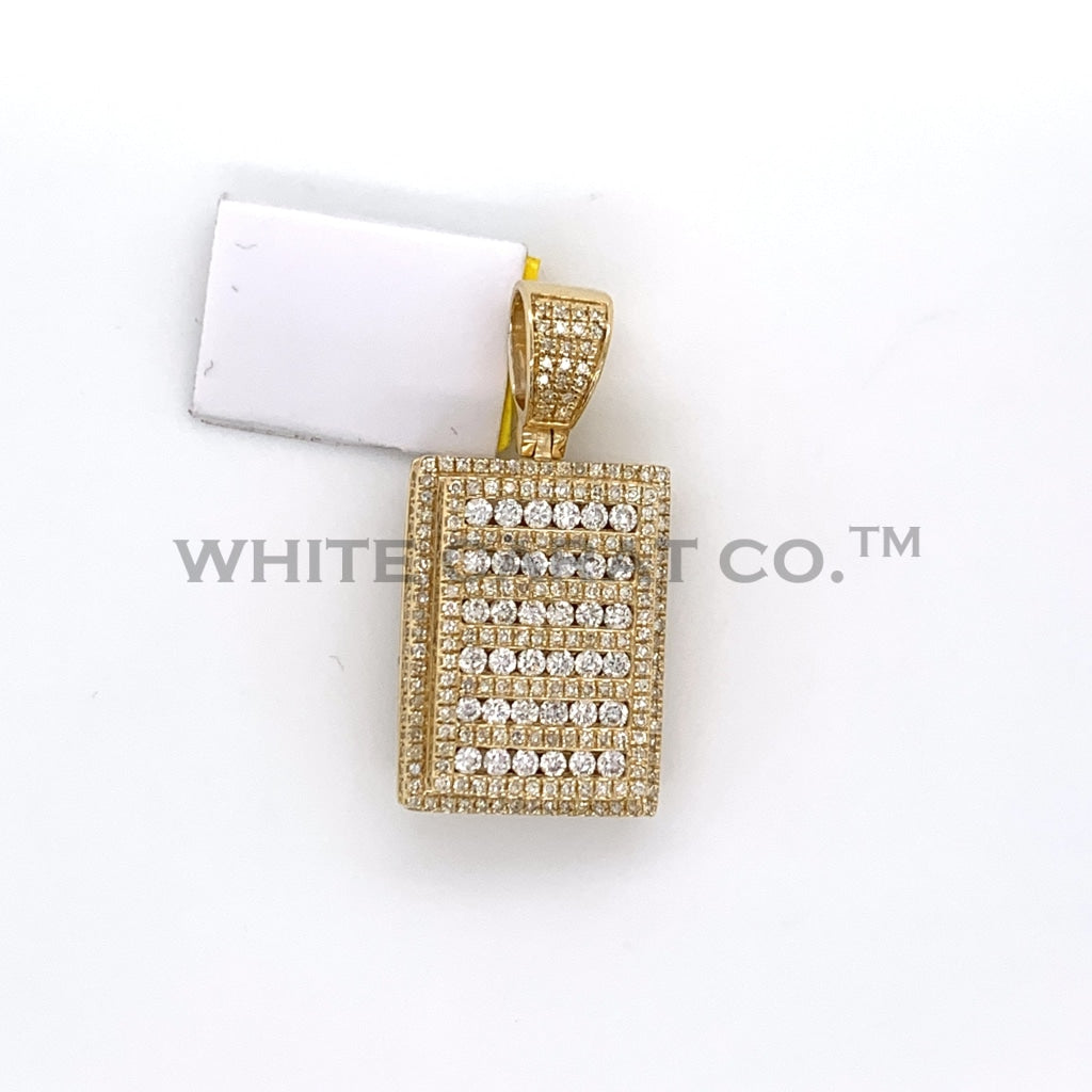 1.70CT Diamond Bar Pendant in 10K Gold - White Carat Diamonds