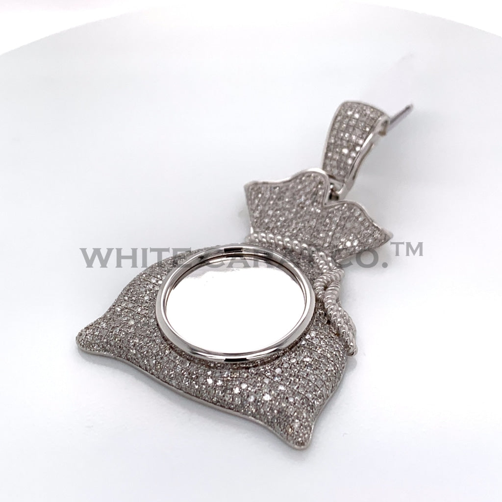 3.26CT Diamond Memory Pendant in 14K White Gold - White Carat Diamonds