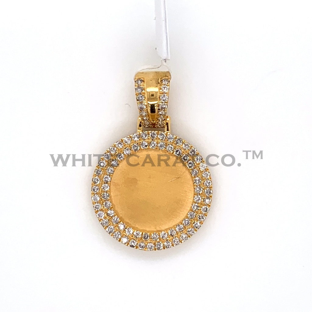 1.14CT Diamond Memory Pendant in 10K Gold - White Carat Diamonds
