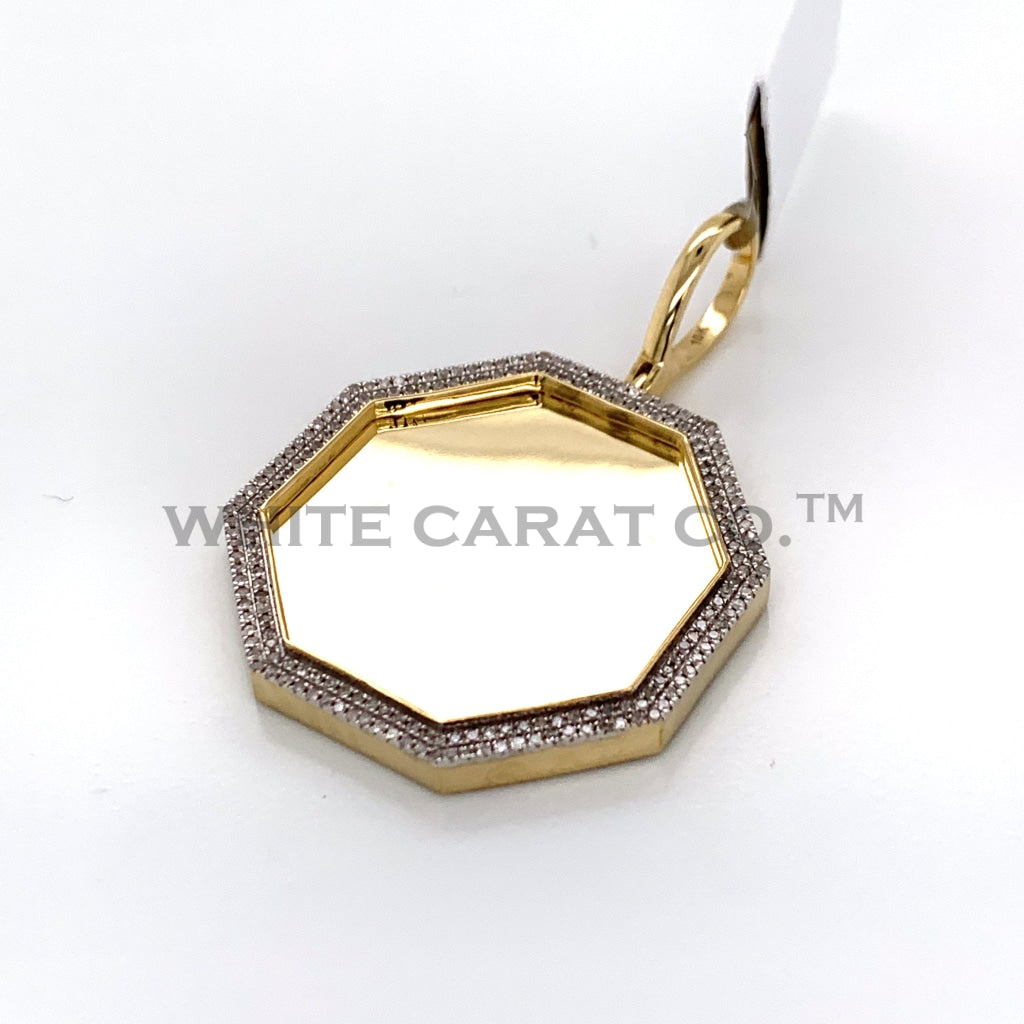 0.48CT Diamond Memory Pendant in 10K Gold - White Carat Diamonds