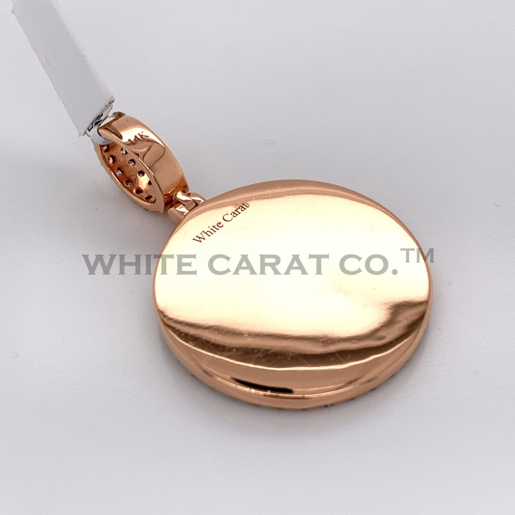 2.20CT Diamond Memory Pendant in 14K Rose Gold - White Carat Diamonds