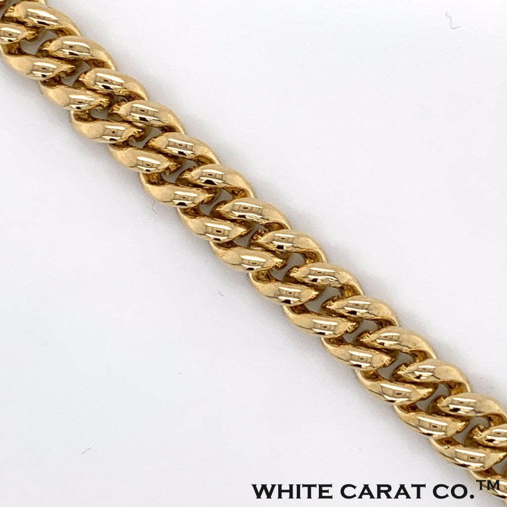 2.96 CT. Diamond Cuban Bracelet in 10K Gold - 9MM - White Carat Diamonds