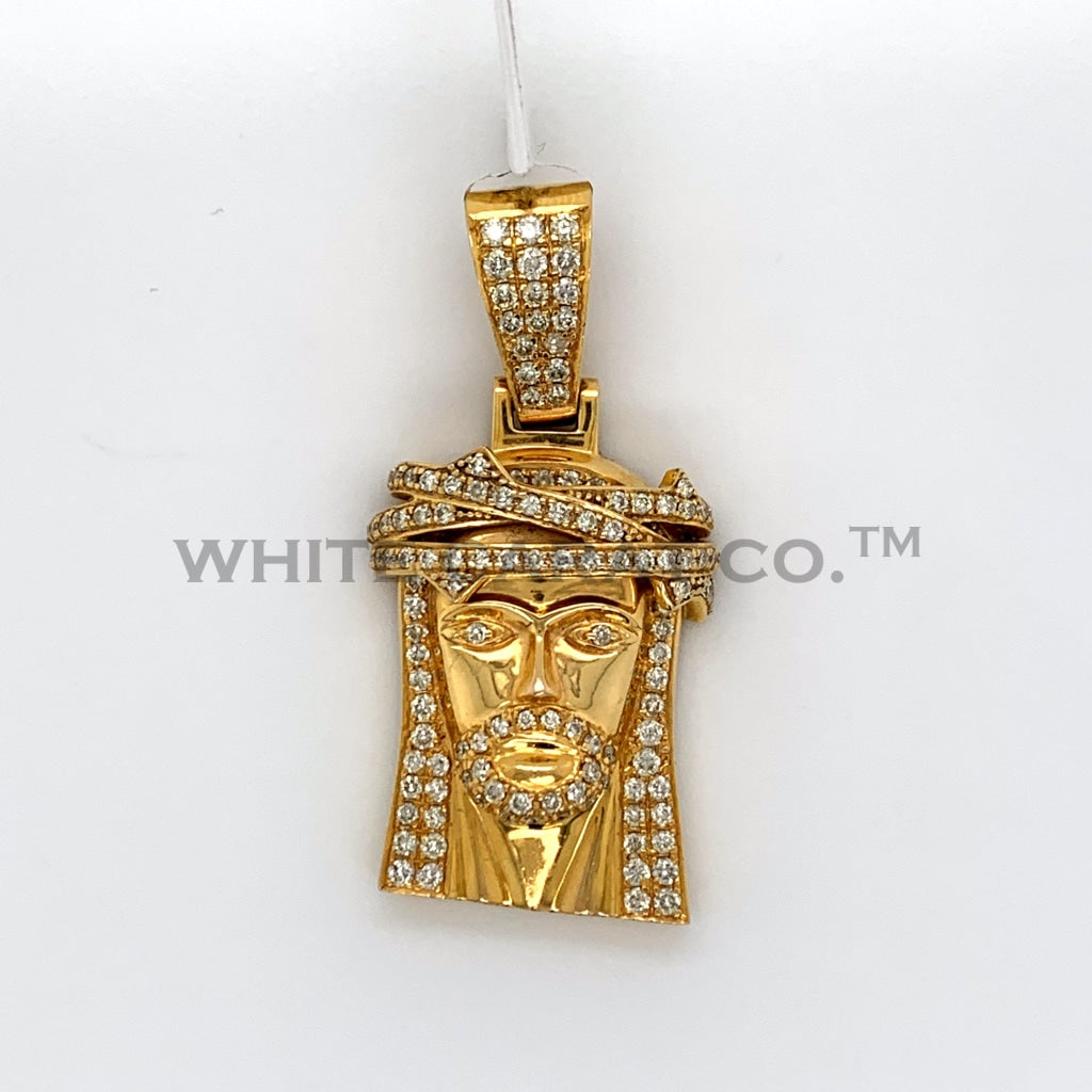1.50CT Diamond Jesus Pendant in 10K Gold - White Carat Diamonds