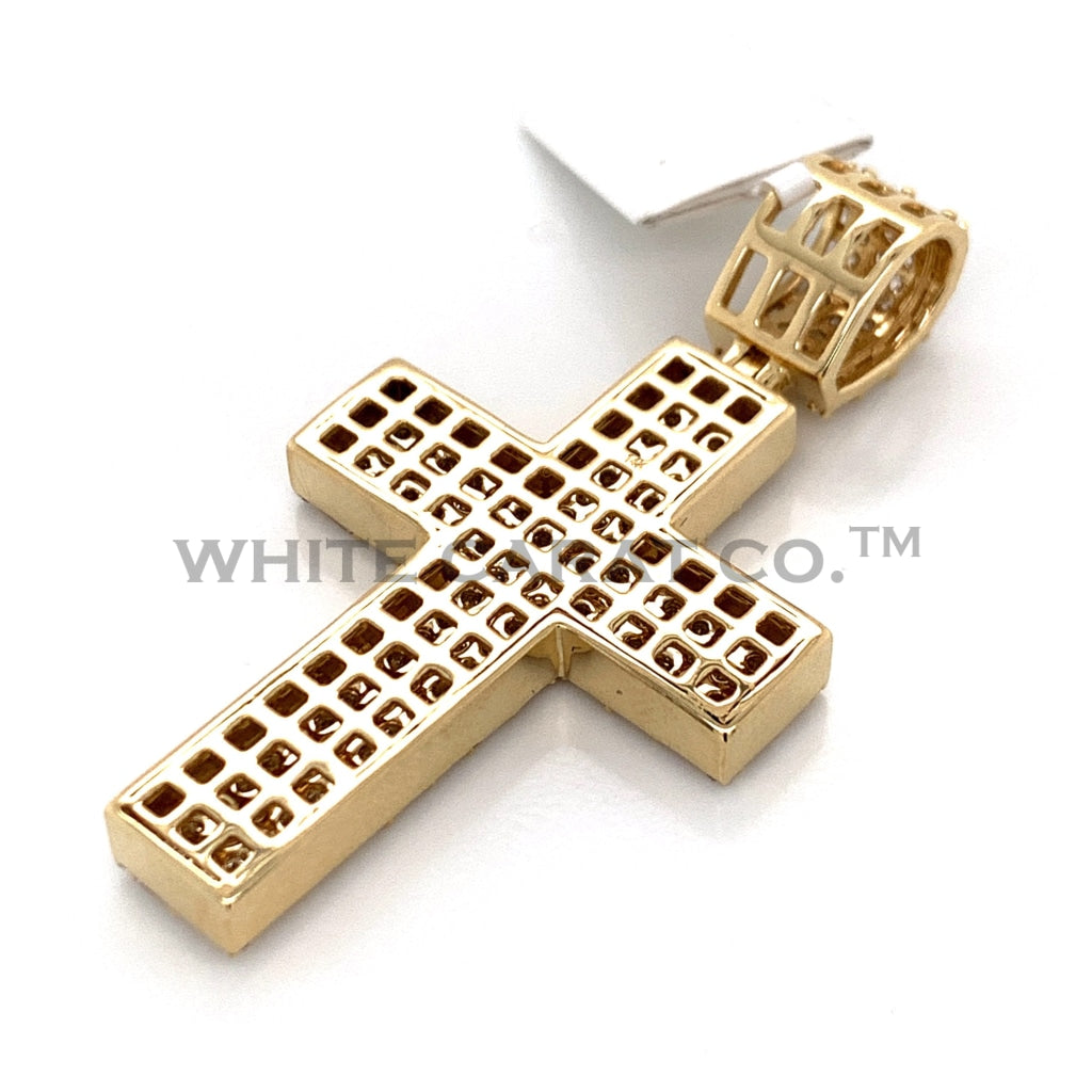 2.97CT Diamond Cross Pendant in 14K Gold - White Carat Diamonds