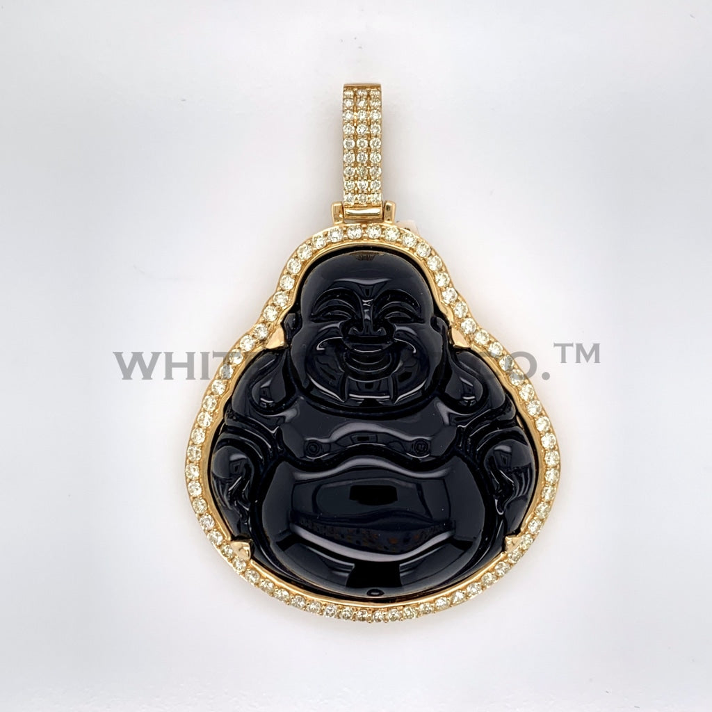 2.75CT Diamond Buddha Pendant in 10K Gold - White Carat Diamonds