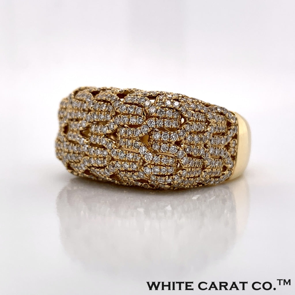 2.05CT Diamond 14K Yellow Gold Ring - White Carat Diamonds