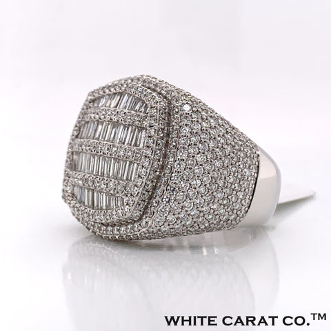 5.74 CT. Diamond 14KT White Gold Ring - White Carat Diamonds