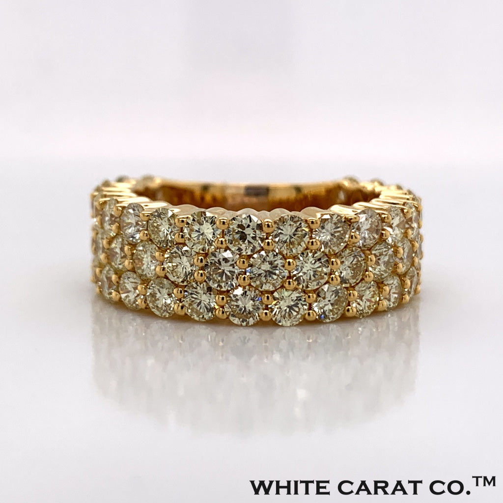 6.04CT Diamond 10K Gold Ring - White Carat Diamonds