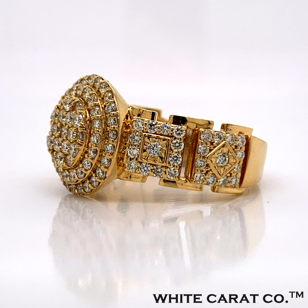 1.55CT Diamond 10K Gold Ring - White Carat Diamonds