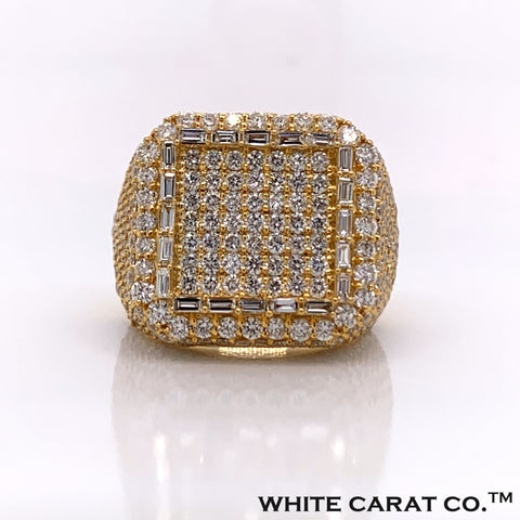 7.03CT Diamond 10K Gold Ring - White Carat Diamonds