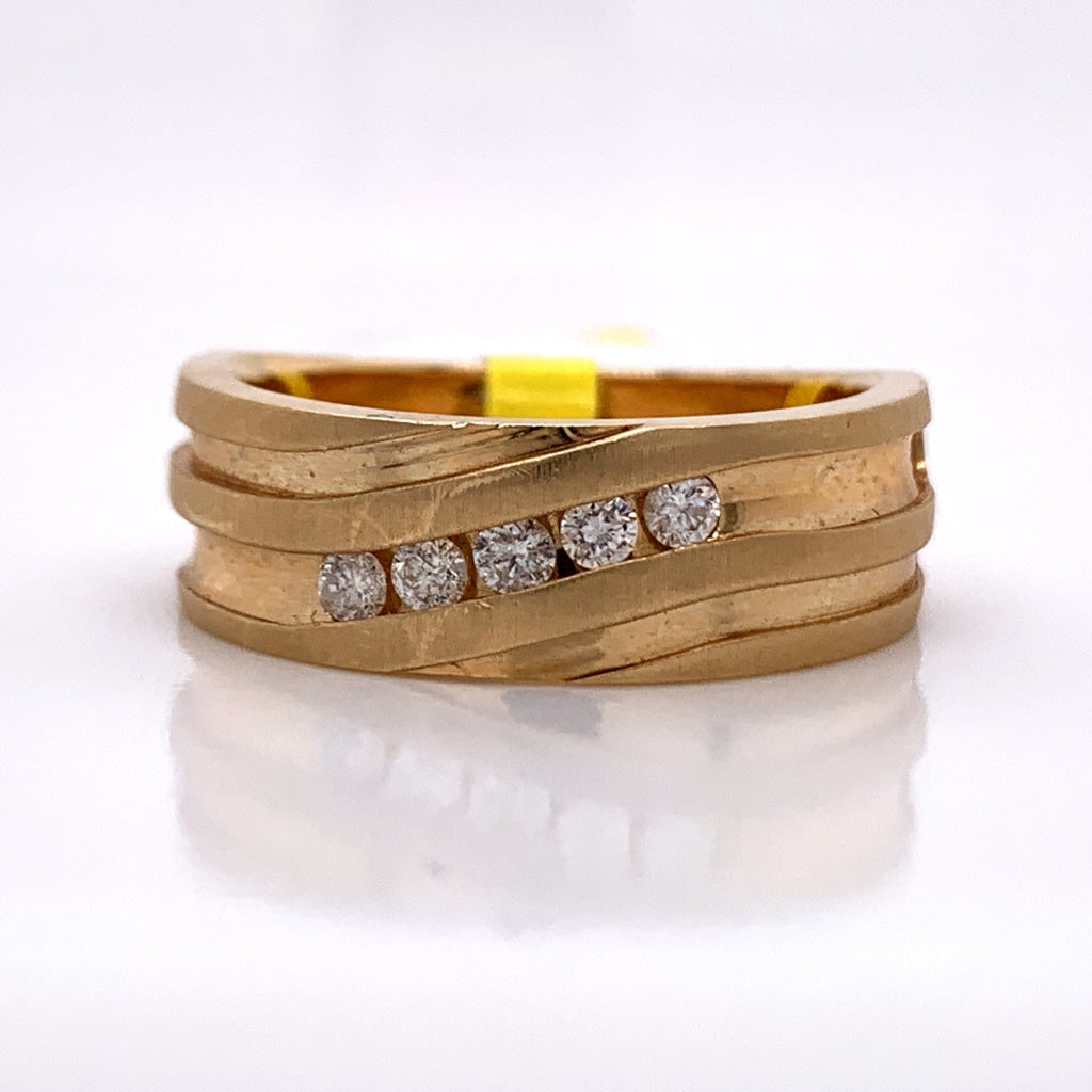 0.24CT Diamond 14K Gold Ring - White Carat Diamonds