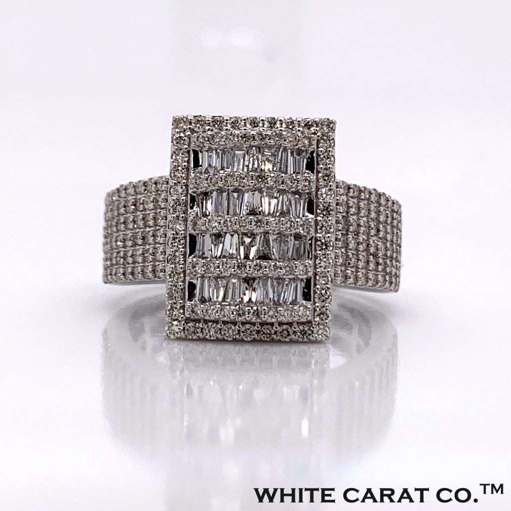 1.67CT Diamond 14K White Gold Ring - White Carat Diamonds