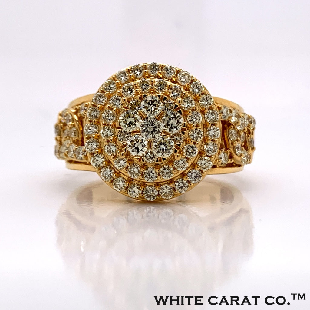 1.80CT Diamond 10K Gold Ring - White Carat Diamonds