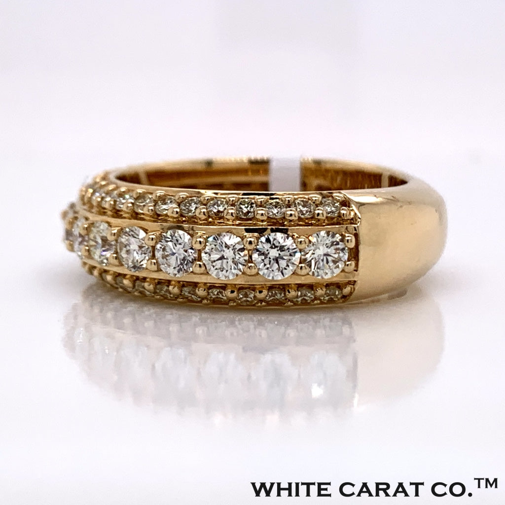3.01CT Diamond 10K Gold Ring - White Carat Diamonds