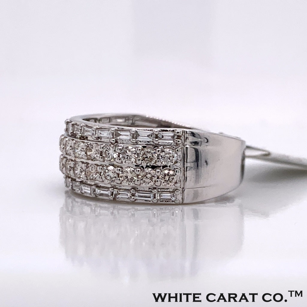 1.85CT Diamond 14K White Gold Ring - White Carat Diamonds