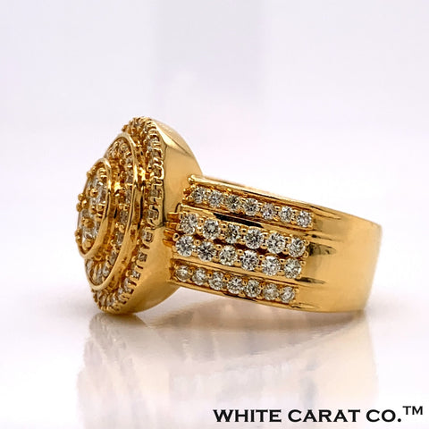 2.11CT Diamond 10K Gold Ring - White Carat Diamonds
