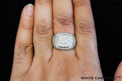 3.75 CT. VVS Diamond Square Ring in Gold - White Carat - USA & Canada