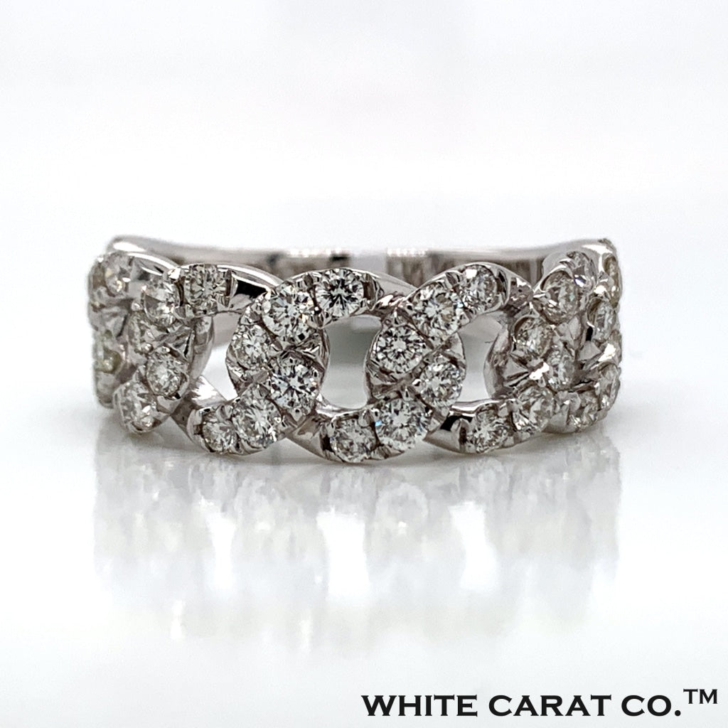 1.48CT Diamond 14K White Gold Ring - White Carat Diamonds