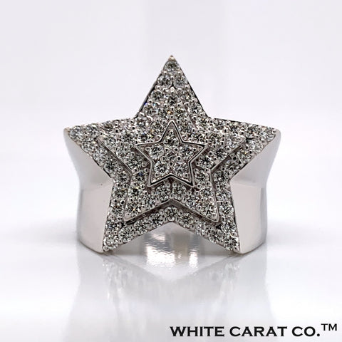 1.56CT Diamond 10K White Gold Ring - White Carat Diamonds