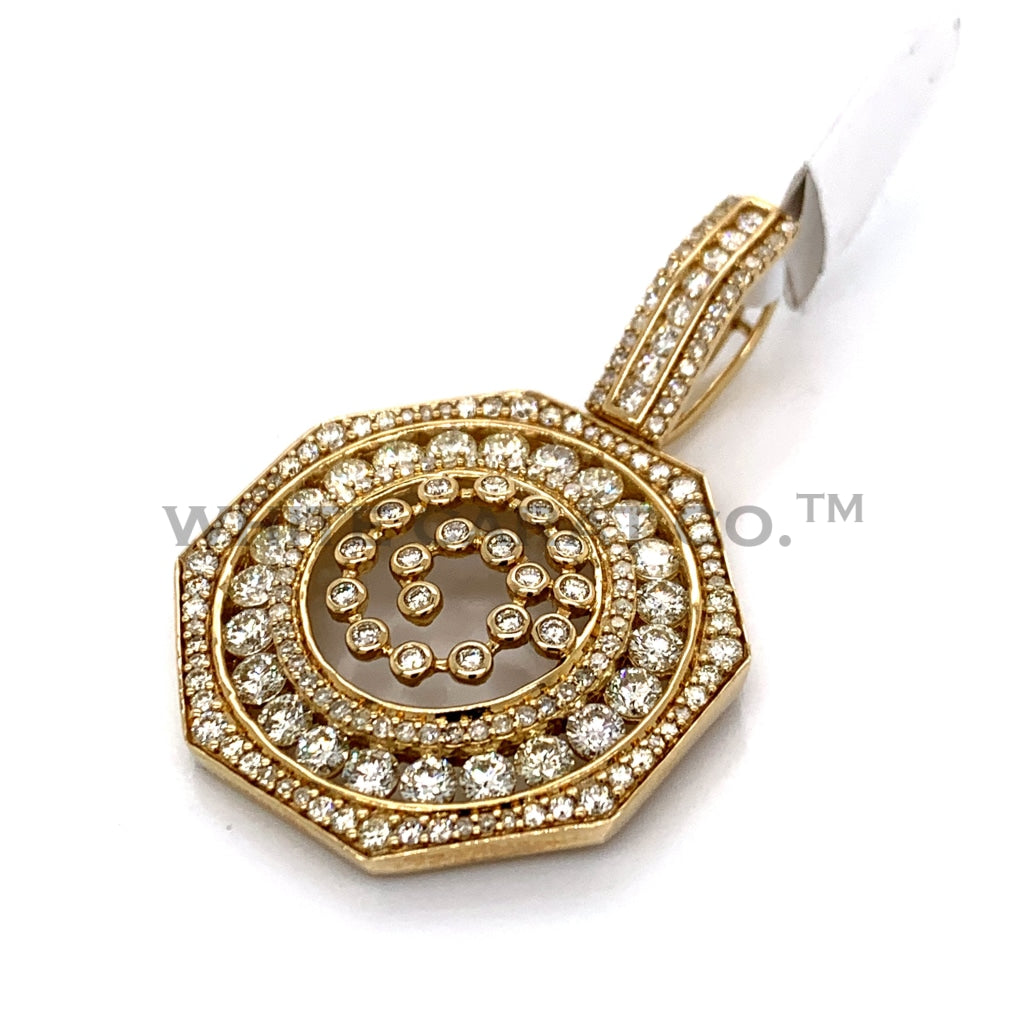 5.00CT Diamond Swirl Pendant in 10K Gold - White Carat Diamonds