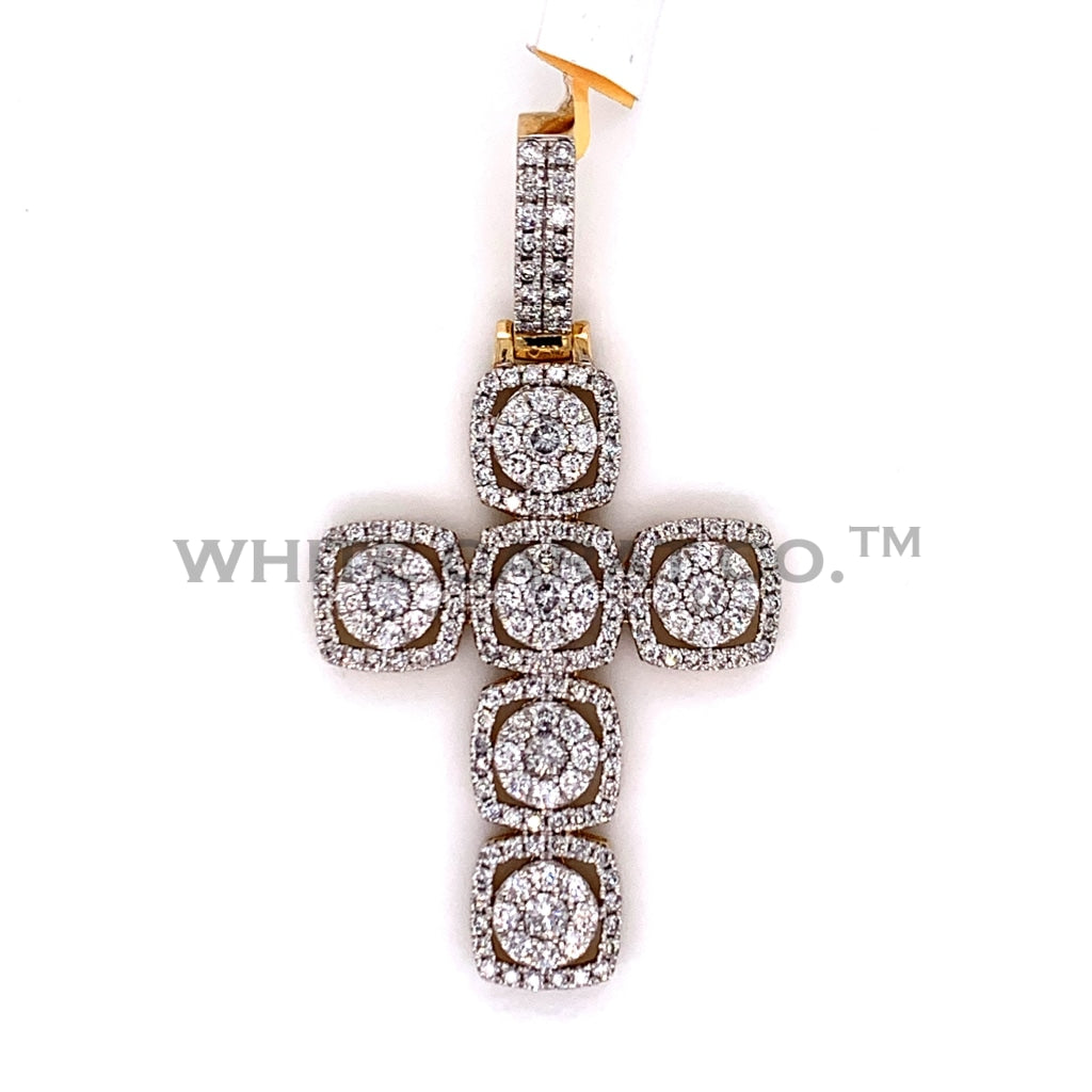 2.50CT Diamond Cross Pendant in 10K Gold - White Carat Diamonds