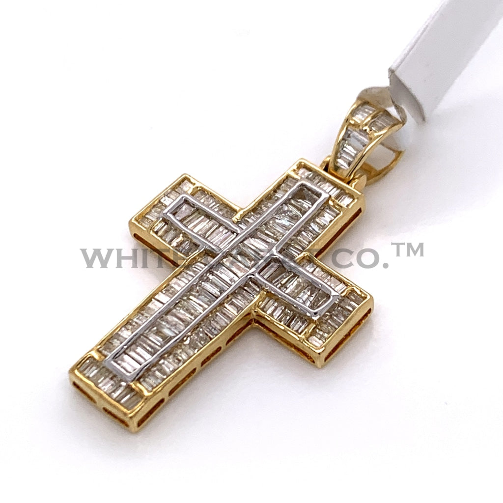 1.75CT Diamond Cross Pendant in 10K Gold - White Carat Diamonds